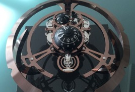 Новинка часы Starfleet Machine MB&F Lepee 1839 в коричневом цвете.